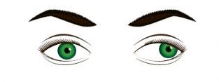 Figura que representa o estrabismo em apenas um dos olhos