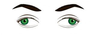 figura que representa o estrabismo nos dois olhos