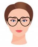 Figura ilustrativa do rosto oval com os óculos que combinam com ele