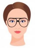 Figura ilustrativa do rosto diamante com os óculos que combinam com ele