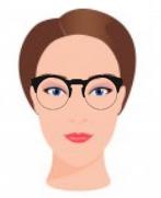 Figura ilustrativa do rosto alongado com os óculos que combinam com ele