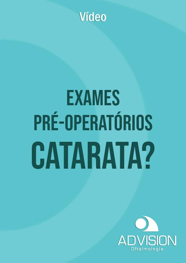capa video exames pre operatorios