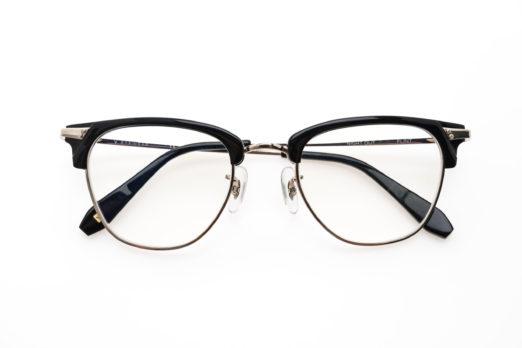 óculos de armação de meio aro